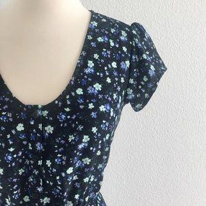 Kimchi Blue Silky Sabrina Floral Shirt Dress!
